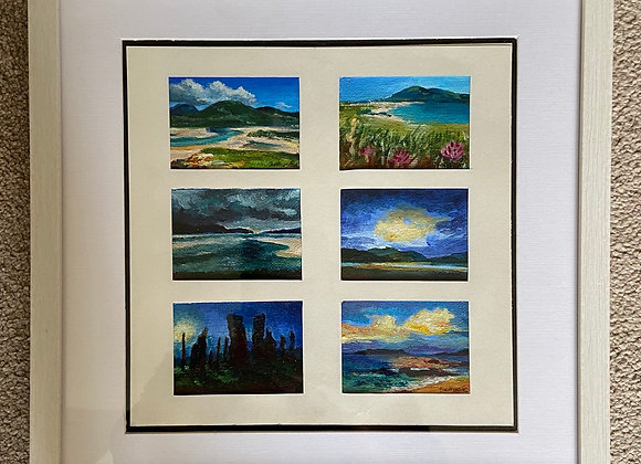 """Isle of Harris miniature collection - Framed 12 x12"""""""