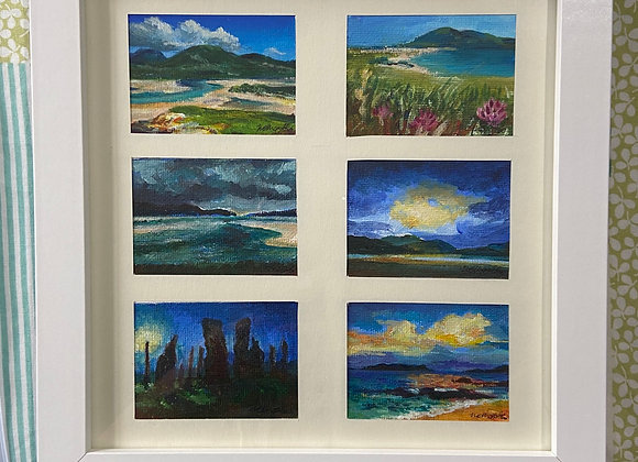 """Isle of Harris miniature collection - Framed 8x8"""""""