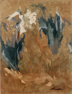 2002 Weeds 41x61.5 collage, decollage, acrylic on korean paper mud 2002