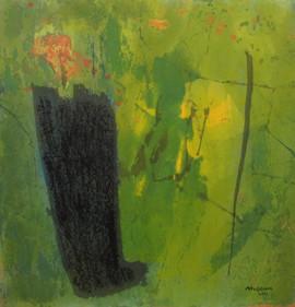 2011 Un Moment Donne II, 71.5x75cm, acrylic on korean paper, 2011