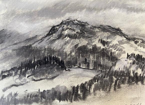 Screel Hill - Framed original Pastel drawing