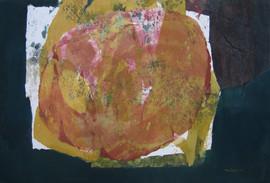2010 Fruit I, 104x71cm acrylic on korean paper, decollage 2010