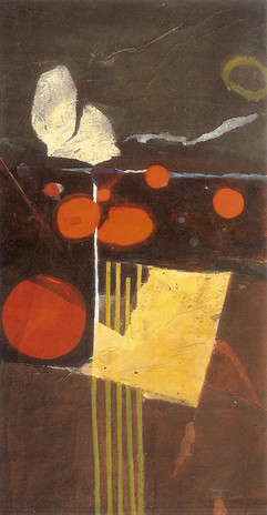 2005 Dream III, 74x142cm collage,decollage,a crylic on korean paper, 2005