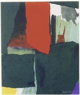 1995 67x55.7cm collage decollage korean paper on canvas 1995