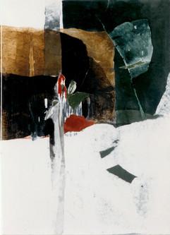 1999 Yearning III 162.2x130.3, acrylic on korean paper,1999