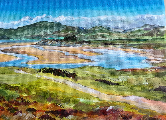 Across to Sandyhills from Southerness - Acrylic on canvas  12 x 15 cm