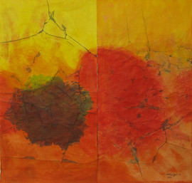 2011 The Day Given, 73x105cm. Arylic on Korean Paper, 2011