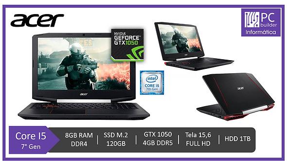 Notebook Acer Aspire Vx5 - Gtx 1050/i5-7300/8gb Ram/ssd 120g