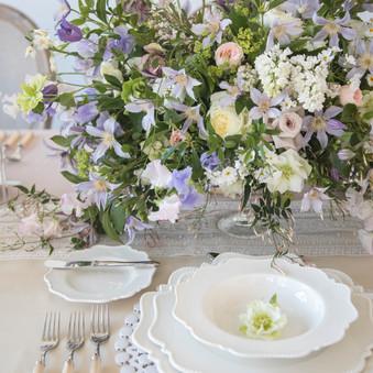 violette whimsy wedding