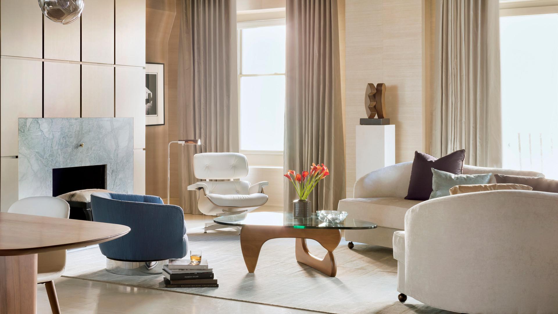 Boston Harbor   Lisa Tharp Design   Living Room