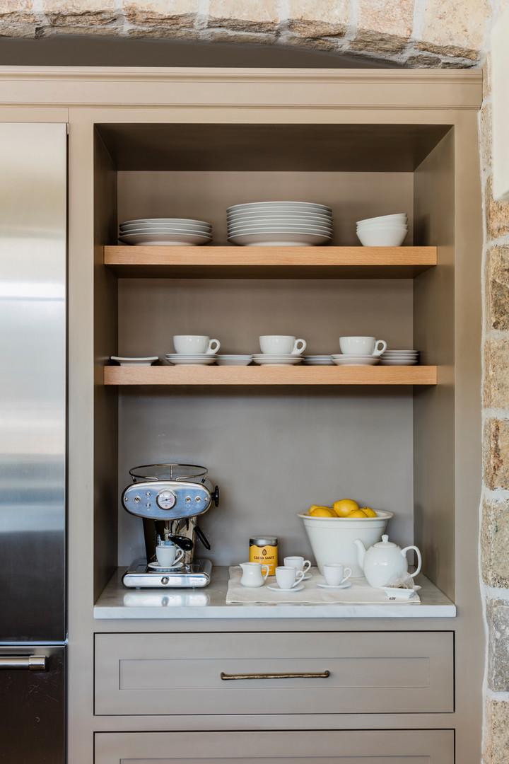Built-in Open Shelves