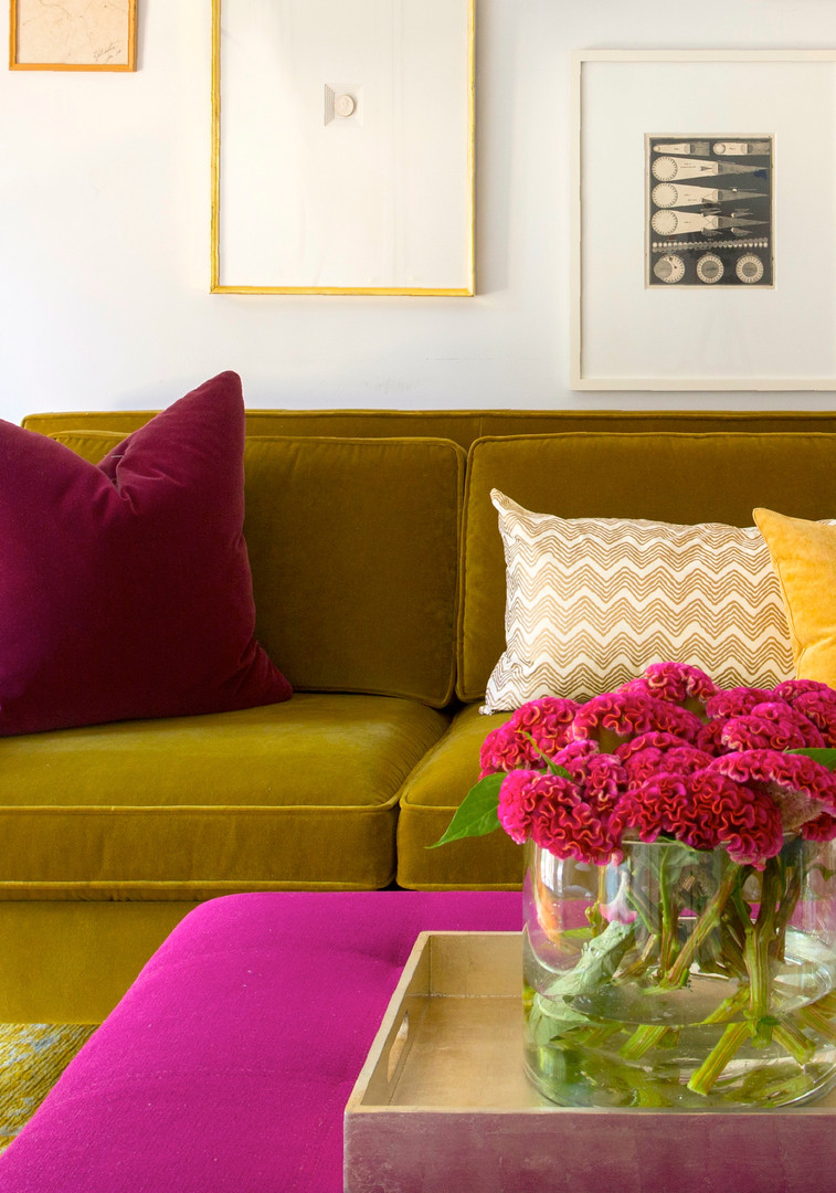 Sofa with Colorful Accents