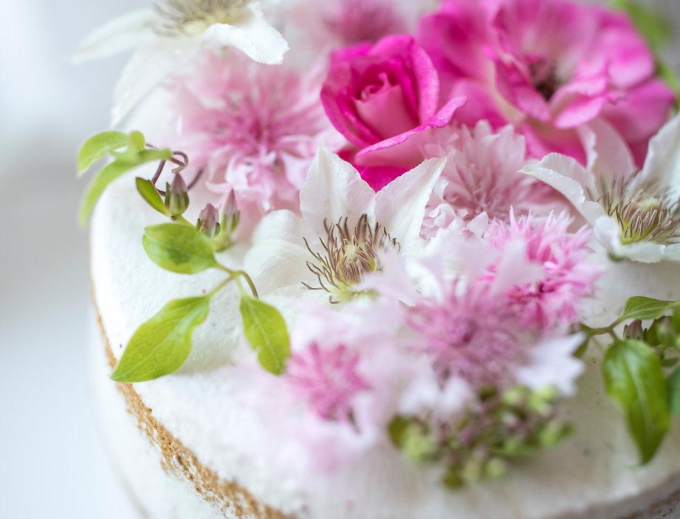 fresh flower cake 4