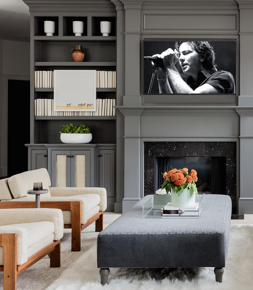 Family Room - Fireplace View