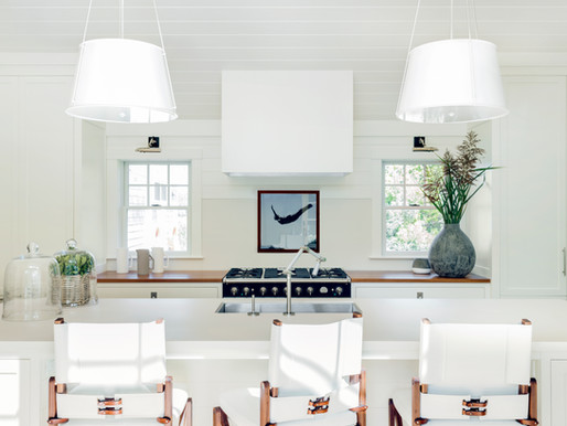 ELLE DECOR Features our Salt Marsh Kitchen, Where Streamlined Modern Meets Yacht Style