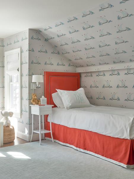 Boy's bedroom does double duty a sunny playroom
