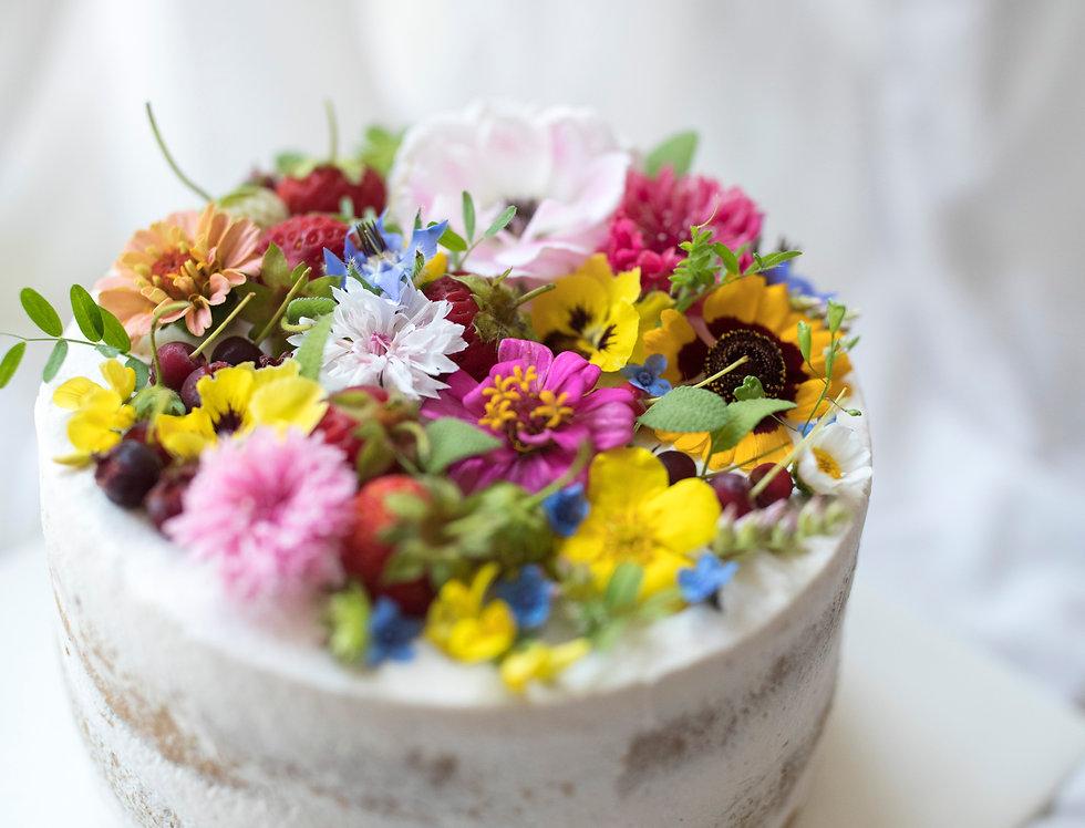 fresh flower cake 3