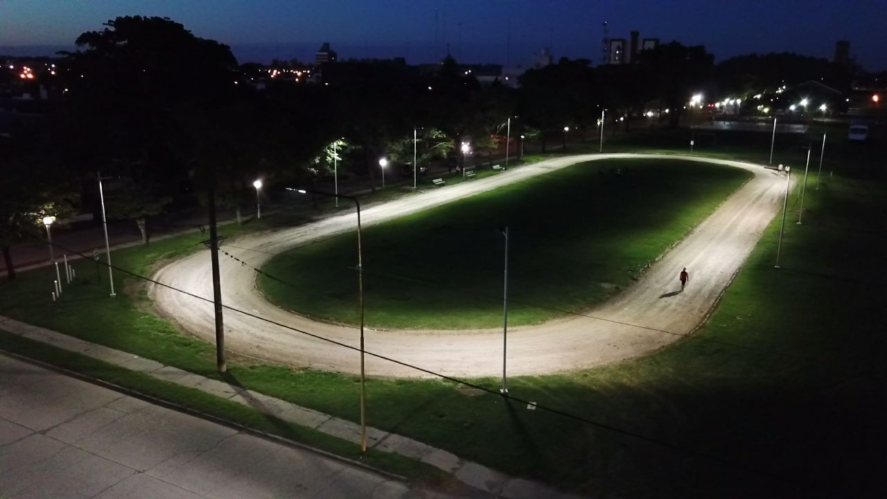 Iluminación en Pista de Atletismo