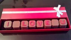 I love You Chocolate Squares