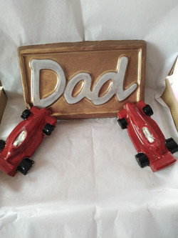 Dad Slab & 2 Chocolate Racing Cars
