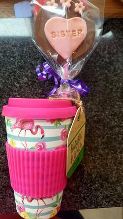Bamboo Eco Mug & Personalised Lolly