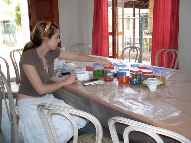 2006 Alia organizing supplies.JPG