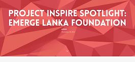 PROJECT INSPIRE SPOTLIGHT: EMERGE LANKA FOUNDATION