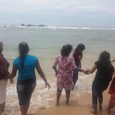 Fun at the Galle Beach