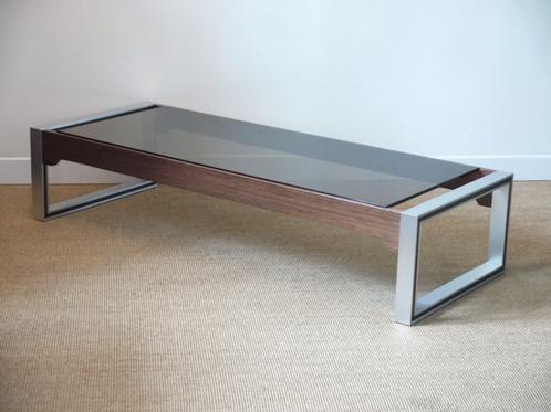 Grande Table Basse Des Années 70 - Design Claude Gaillard