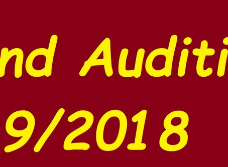 Blind Audition 9/2018