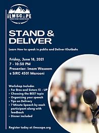 Stand & Deliver Public Speaking Workshop