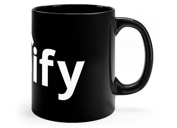 Black Coffee Mug, 11oz