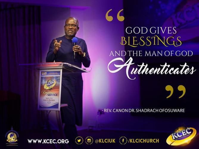 Rev Canon Dr Shadrach Ofosuware