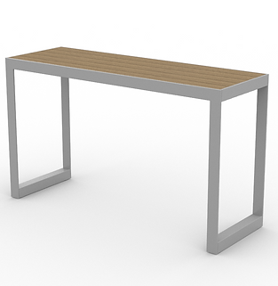 Bluejack Table - View 2 - Neutral (Silve