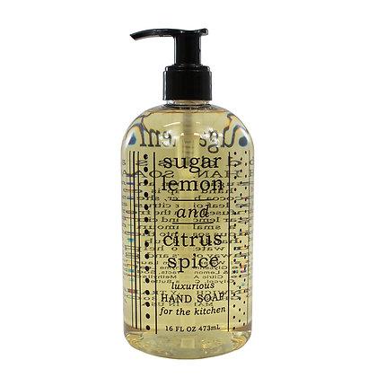 Sugar Lemon & Citrus Spice Kitchen Hand Soap