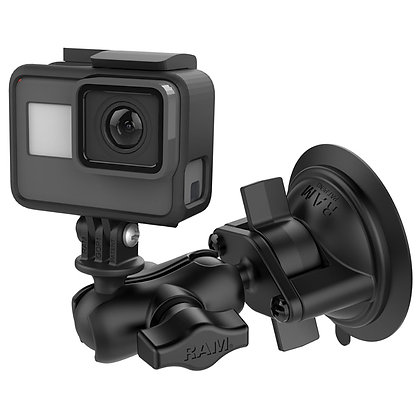 Twist-Lock Suction Cup Mount with Universal Action Camera Adapter