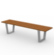 Rowan Armless 6ft Bench - View 2 - Park