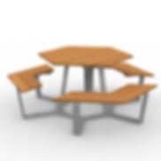 Rowan Hex Table - View 1 - Silver (Neutr