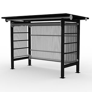 Loom Shelter - View 2 - Neutral (Black).
