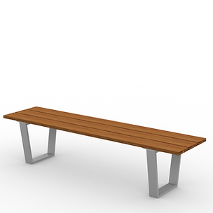Rowan Armless 6ft Bench - View 2 - Park