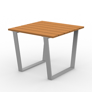 Rowan Square Table - View 2 - Park (Silv