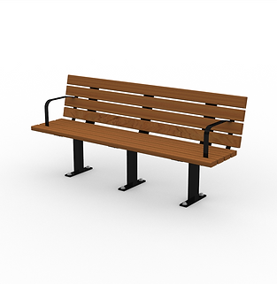 Black Gum Bench - View 1 - Neutral (Blac