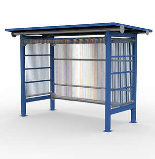 Loom Shelter - View 2 - Contrast (Blue).