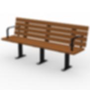 Black Gum Bench - View 1 - Contrast (Bla