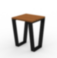 Rowan Accent Table - View 2 - Black (Con