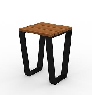 Rowan Accent Table - View 2 - Black (Con
