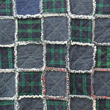 Dooders-Cottage-Denim-Green-Rag-Quilt-18