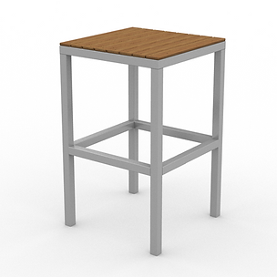 Juniper Stool - View 2 - Neutral (Silver