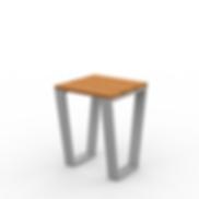 Rowan Accent Table - View 2 - Park (Silv