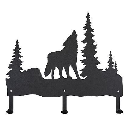 Howling Wolf Coat Rack